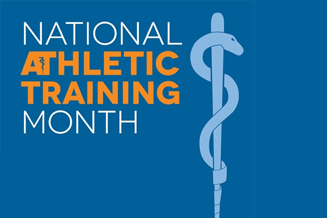 The logo for National Athletic Training Month