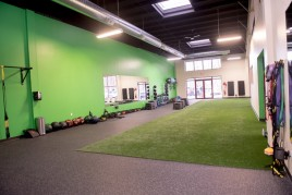 A photo of a physical therapy exercise room at the PT360 South Burlington Vermont studio.