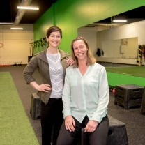 A photo of two PT360 physical therapists in South Burlington Vermont
