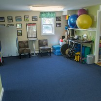 A picture of the physical therapy equipment in the Burlington Vermont PT360 office.