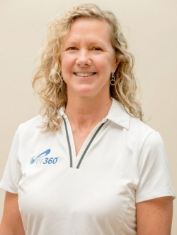 a portrait of Lisa Tidman, PTA, CLT, Yoga Instructor, Health Coach