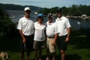 A photo of 4 PT360 physical therapists  at a charity golf event