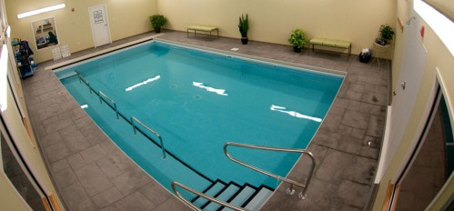 A photo of the PT360 aquatic therapy swimming pool