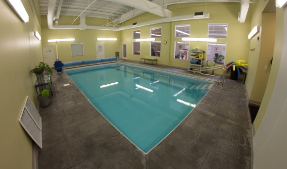 A photo of the PT360 aquatic therapy pool.