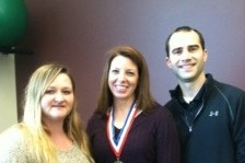 A photo of Sara Laware, US National Skydiving Champion wearing a medal