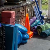 A photo of equipment used for physical therapy and rehab at the PT360 Williston studio