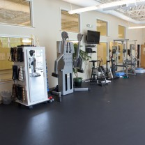 A photo of physical therapy and exercise equipment at PT360 Williston Vermont