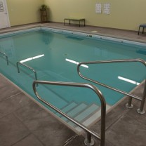 A photo of the aquatic therapy pool at the PT360 Williston Vermont studio
