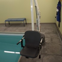 A photo of aquatic therapy equipment at the PT360 Williston studio