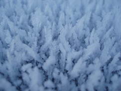 An abstract photo of ice crystals.